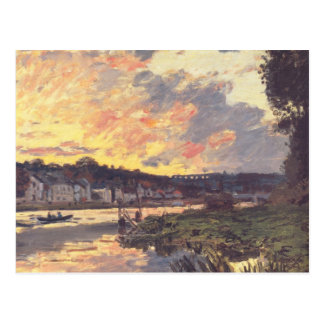 The Seine at Bougival in the Evening Postcard