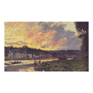 The Seine at Bougival in the Evening Poster