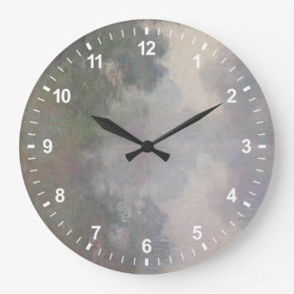 The Seine at Giverny, Morning Mists Large Clock