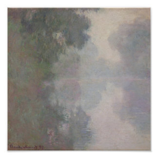 The Seine at Giverny, Morning Mists Poster