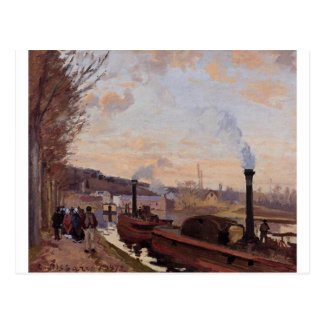 The Seine at Port Marly by Camille Pissarro Postcard