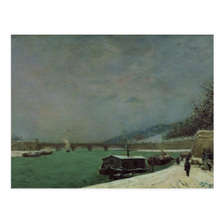 The Seine at the Pont d'Iena, Winter, 1875 Postcard