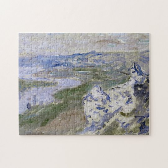 The Seine from Heights Chantemesle Monet Fine Art Jigsaw Puzzle