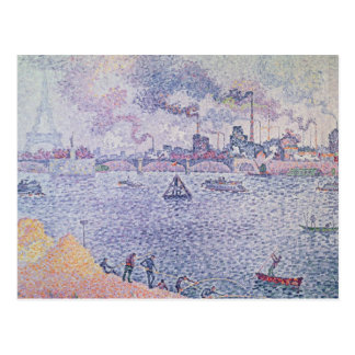 The Seine, Grenelle, 1899 Postcard