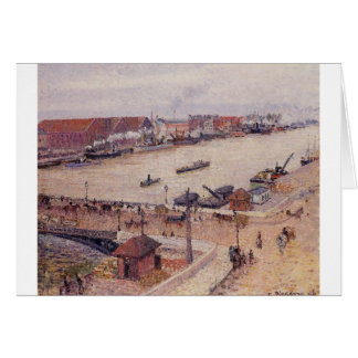 The Seine in Flood, Rouen by Camille Pissarro Card
