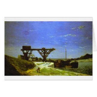 The Seine in Paris by Paul Gauguin Card