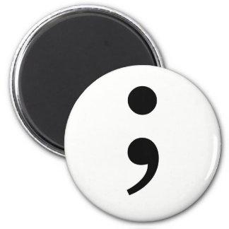 The Semicolon 2 Inch Round Magnet
