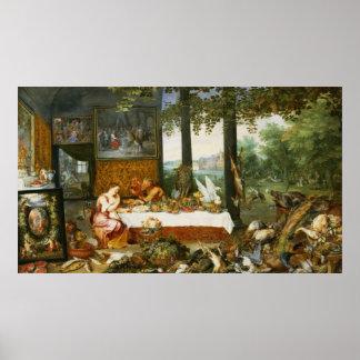 The Sense of Taste, 1618 Poster
