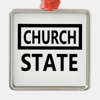 The Separation of Church and State - 1st Amendment Silver-Colored Square Ornament