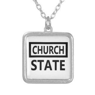 The Separation of Church and State - 1st Amendment Silver Plated Necklace