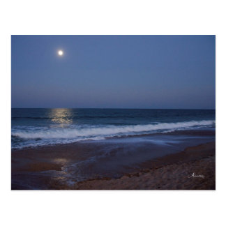 The serenity of the ocean at night, postcard