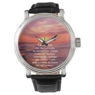 The Serenity Prayer 3 Wrist Watch