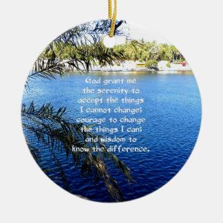 The Serenity Prayer Ceramic Ornament
