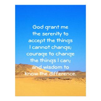 The Serenity Prayer Customized Letterhead
