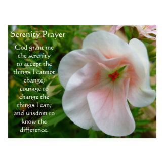 The Serenity Prayer garden postcard