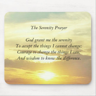 The serenity prayer mousepad