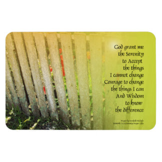 The Serenity Prayer Old Fence Red Tulips Magnet
