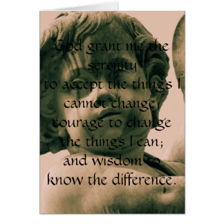 The Serenity Prayer on vintage angel photograph Card