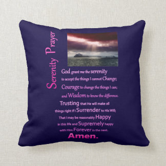 The Serenity Prayer Open Sea Throw Pillow