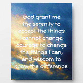 The Serenity Prayer Plaque
