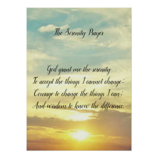 The serenity prayer Poster