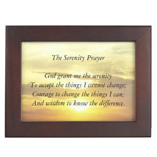 The serenity prayer trinket box