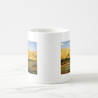 The Serenity Prayer with beautiful mountain photo Coffee Mug