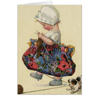 """The Serious Knitter"" Greeting Card"