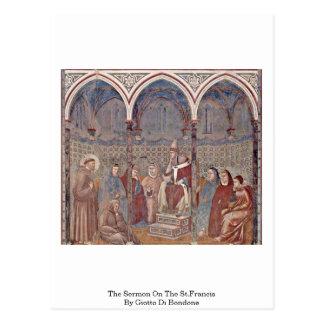 The Sermon On The St.Francis By Giotto Di Bondone Postcard
