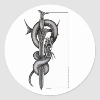 The Serpent & the Sword Classic Round Sticker