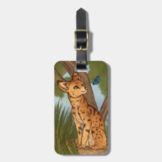 The Serval and the Butterfly Bag Tag