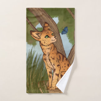 The Serval and the Butterfly Bath Towel Set