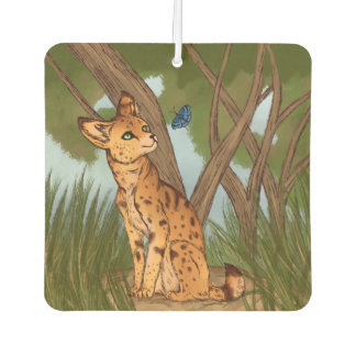 The Serval and the Butterfly Car Air Freshener