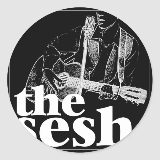 """the sesh"" 1-1/2"" Black Sticker"
