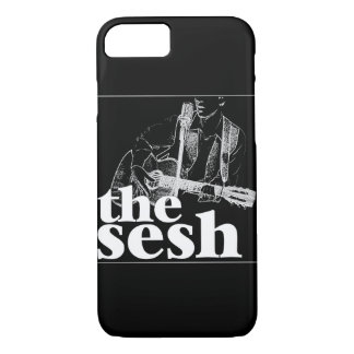 """the sesh"" Black iPhone 7 Case"