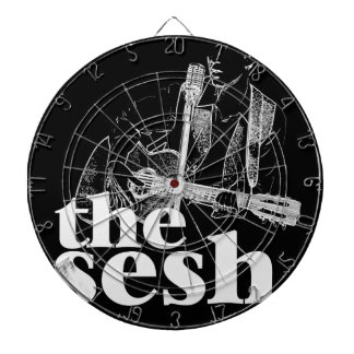"""the sesh"" Dartboard (Black)"