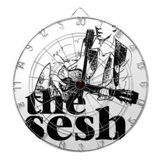 """the sesh"" Dartboard (White)"