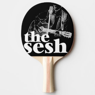 """the sesh"" Ping Pong Paddle (Black)"