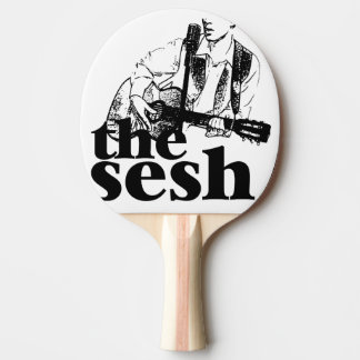 """the sesh"" Ping Pong Paddle (White)"