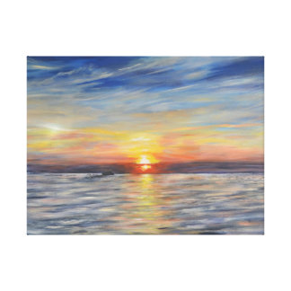 The Setting Sun Stretched Canvas Prints