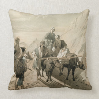 The Sevang or Cockcha Lake, Transcaucasia, plate 2 Throw Pillow