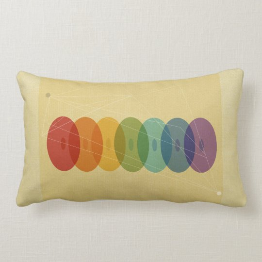 The seven chakras lumbar pillow