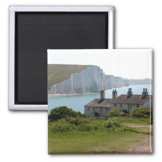 The Seven Sisters, Cuckmere Haven, Sussex Square Magnet