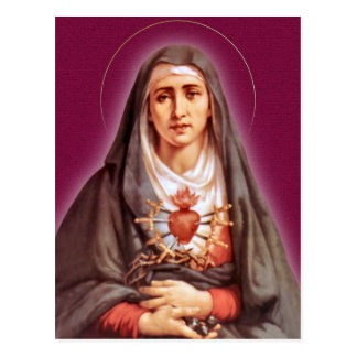The Seven Sorrows Devotion The Blessed Virgin Mary Postcard
