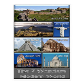 The Seven Wonder Modern World - Postcard
