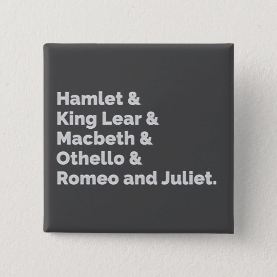The Shakespeare Plays I 2 Inch Square Button