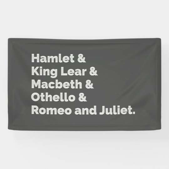 The Shakespeare Plays I Banner