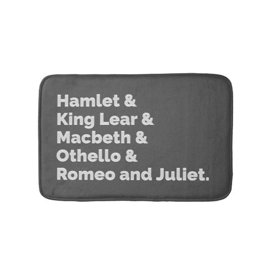 The Shakespeare Plays I Bath Mat