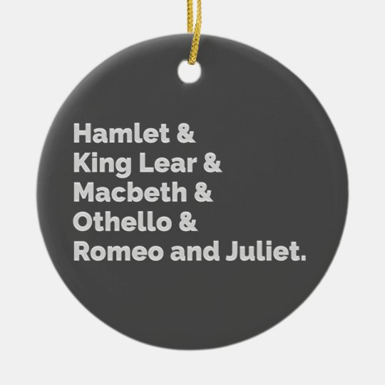 The Shakespeare Plays I Ceramic Ornament