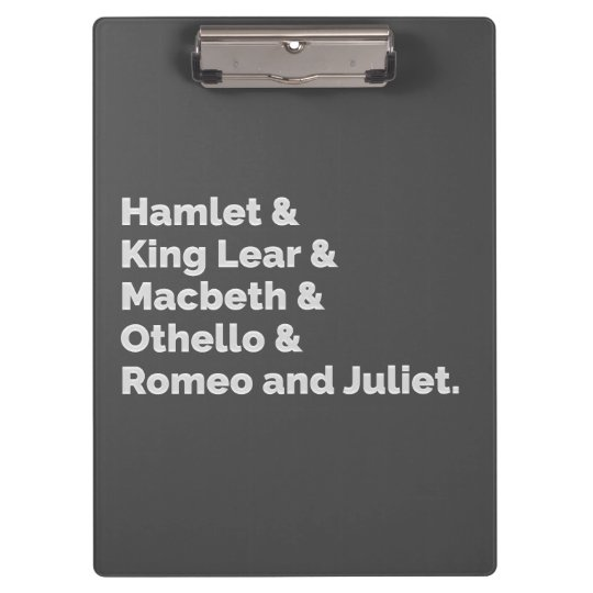 The Shakespeare Plays I Clipboard